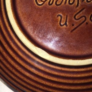 Vintage Dining - Vintage Hull Brown Drip Glazed Bread Butter Plate